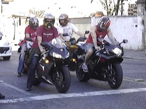 Suzuki GSX R-1000 vs Yamaha R1 - top sd - YouTube