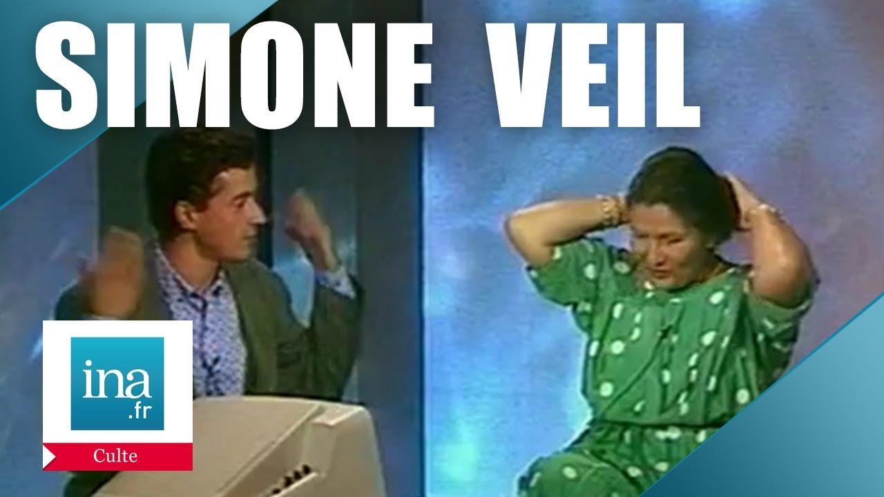 Quand Simone Veil enlevait son chignon pour C. Dechavanne