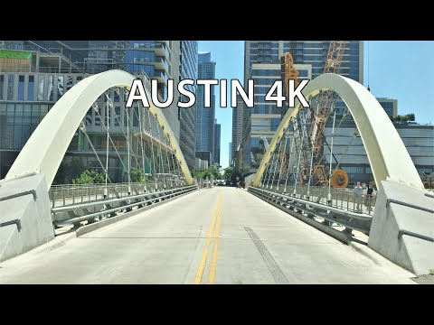 Austin 4K - Downtown Skyscraper Drive - USA