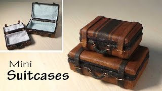Simple Miniature Suitcase Tutorial - Dolls/Dollhouse