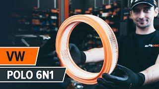 Cómo cambiar los filtro de aire en VW POLO 6n1 [VÍDEO TUTORIAL DE AUTODOC]