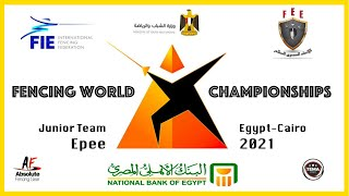 Fencing World Championships Egypt Cairo 2021 -Junior Team Epee Piste Yellow