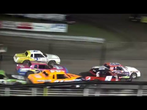 IMCA Hobby Stock feature Southern Iowa Speedway 4/13/16