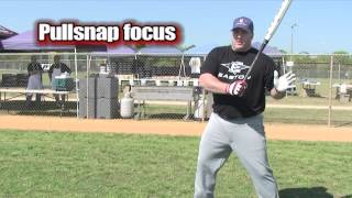 Softball Hitting Tips   What Focus do the Pro