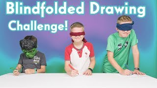 Blindfold Drawing Challenge | 20 seconds to draw a Fidget Spinner Blindfolded! | WHEEL OF MISFORTUNE