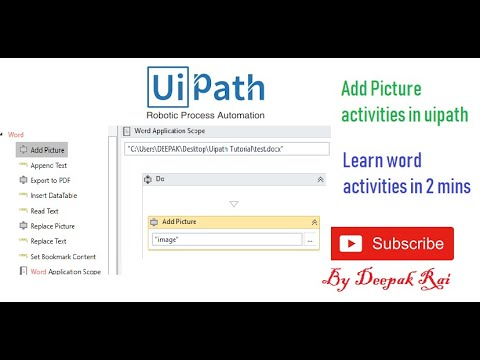 Add Picture activities in word document | Uipath | RPA
