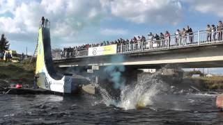 Прыжки с рампы на каяке. Кубок России по фристайлу на бурной воде 2014