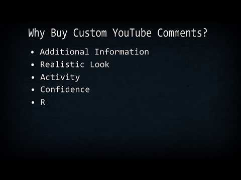 Buy Custom YouTube Comments - Why buy Custom YouTube Comments?