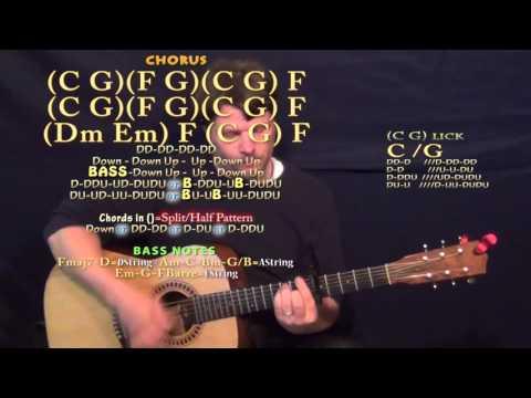 Record Year (Eric Church) Guitar Lesson Chord Chart - Capo 5th