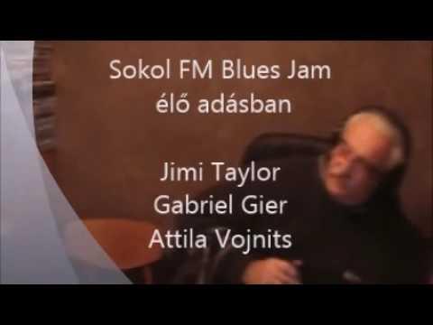 Jimi Taylor@Sokol Radio FM live blues jam feat Attila Vojnits & Gabriel Gier