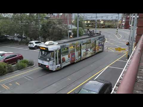 4K - Camberwell Tram Depot Car Out & In - Yarra Trams Melbourne