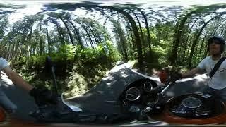 四国山脈 バイク ツーリング kawasaki z900rs vr360 輪太郎