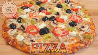 einfach lecker PIZZA 😍/Pizzateig/ Pizzasauce /homemade pizza/ tarifi/ dough recipe