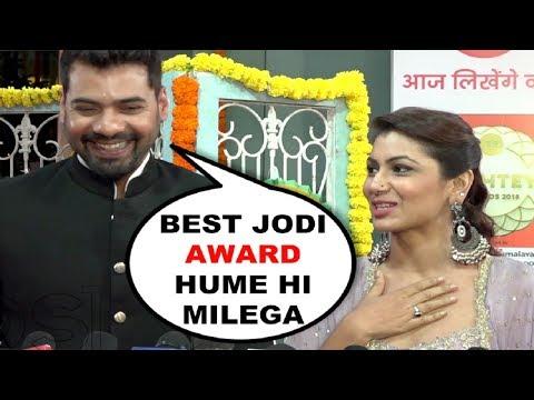 Kumkum Bhagya   Abhi And Pragya AKA Sriti Jha And Shabbir Ahluwalia   Zee Rishtey Awards 2018