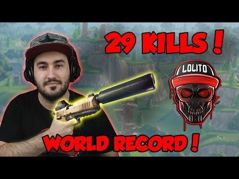 💀 ¡RECORD MUNDIAL en SOLO, 29 KILLS WIN, SNEAKY SILENCER! 💀 ~ FORTNITE