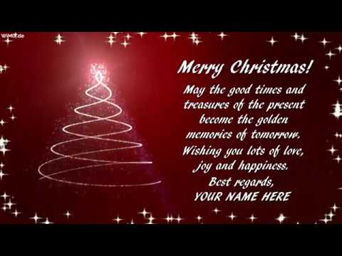 Wimixde Merry Christmas With Your Name Video Greeting
