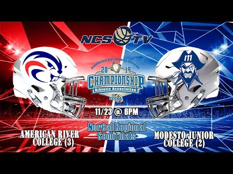 American River vs Modesto Junior College Football NorCal Regional Playoff 11/23/19