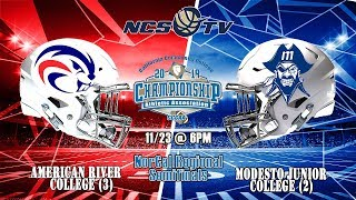 American River vs Modesto Junior College Football NorCal Regional Playoff 11/23/19