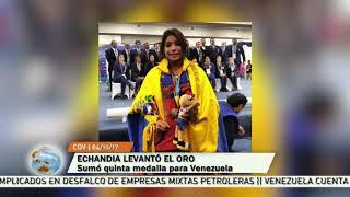Katherin Echandia sumó el quinto oro para la causa tricolor en el levantamiento de Pesas
