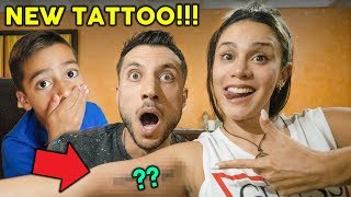 Gambar cover SURPRISING MY FAMILY WITH A TATTOO **EPIC REACTION** | The Royalty Family