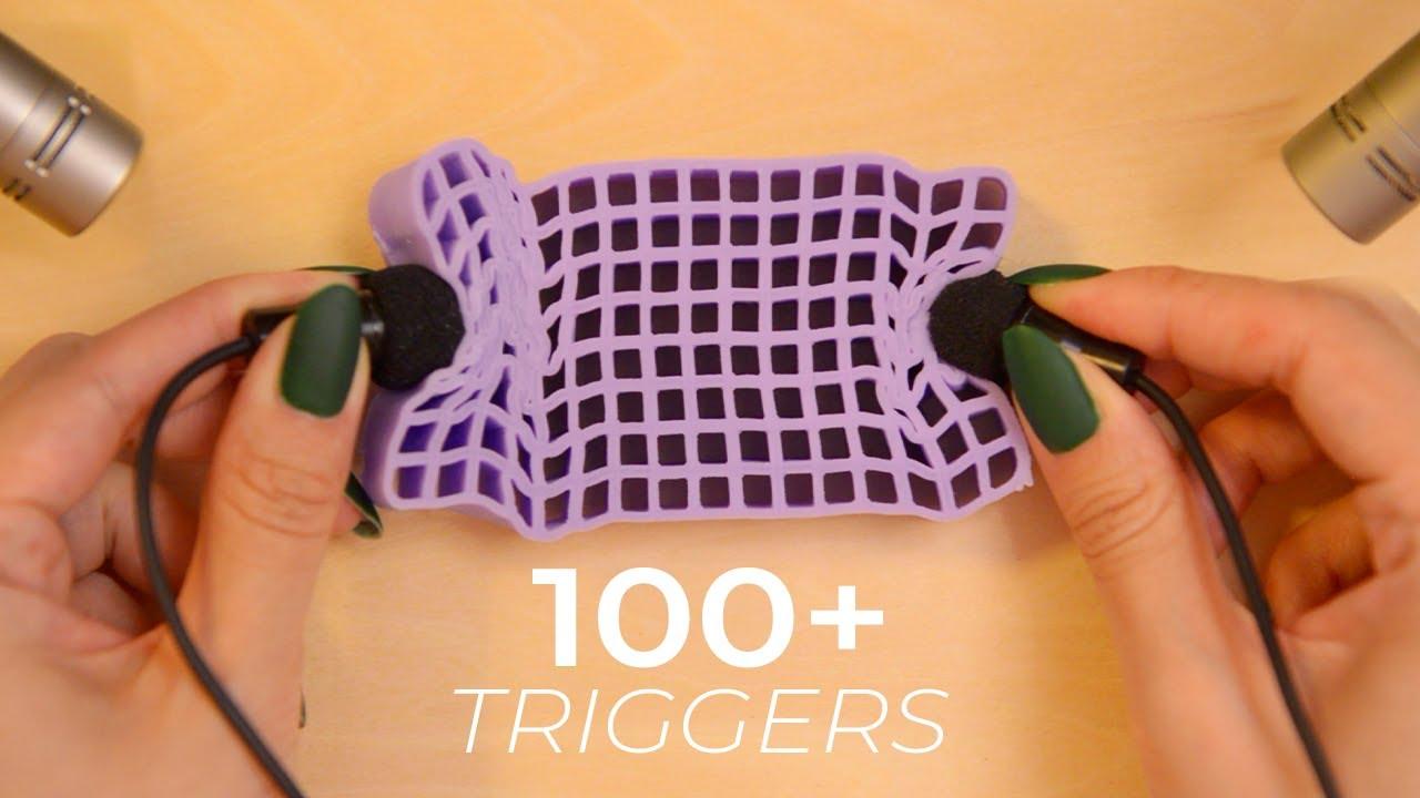 ASMR 100+ Hypnotizing Triggers for 100% Tingles (No Talking)