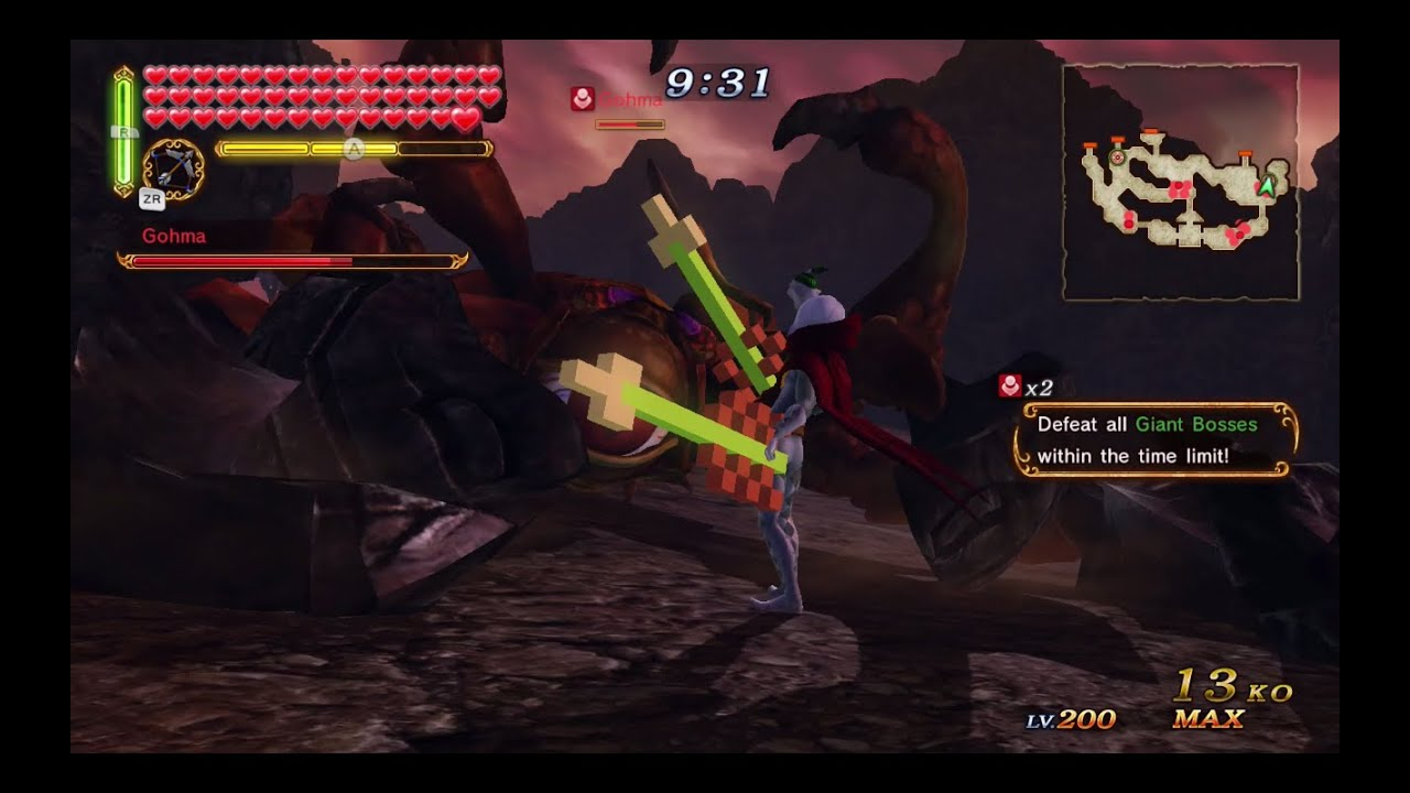 How to defeat gohma in hyrule warriors - Hyrule Warriors Termina Map Demon Lord Ghirahim Gameplay Defeat All Giant Bosses