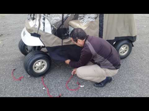 Adding Bungee Cords to EZ Mag's Universal Golf Cart Cover