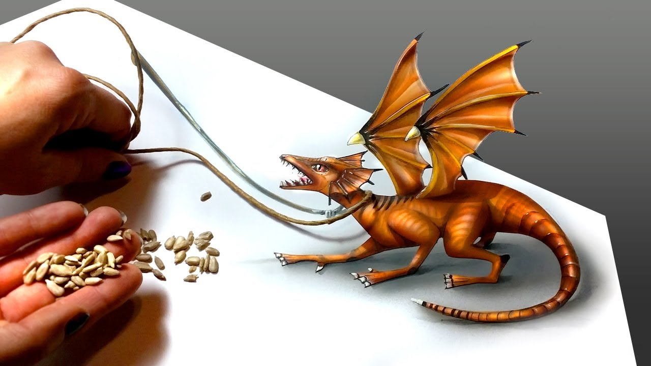 How To Draw A Realistic Dragon Drawing Tutorial Speed Drawing