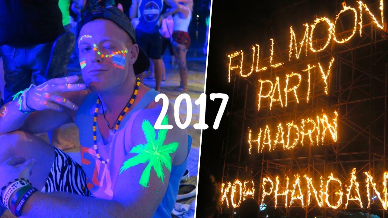 FULL MOON PARTY 2017 🌴🔥🌙 Koh Phangan, Thailand 🇹🇭 Mushroom Shakes &  Craziness