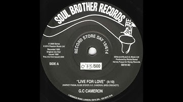 G.C. Cameron - Live For Love