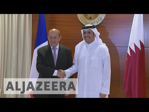 French FM lends support in the Gulf crisis
