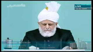 (English) Friday Sermon 01/10/2010 Part 4/4