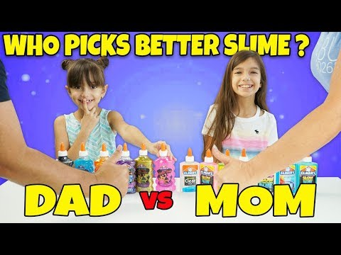 Our Parents Pick Our Slime Ingredients Challenge! MOM vs DAD Showdown!