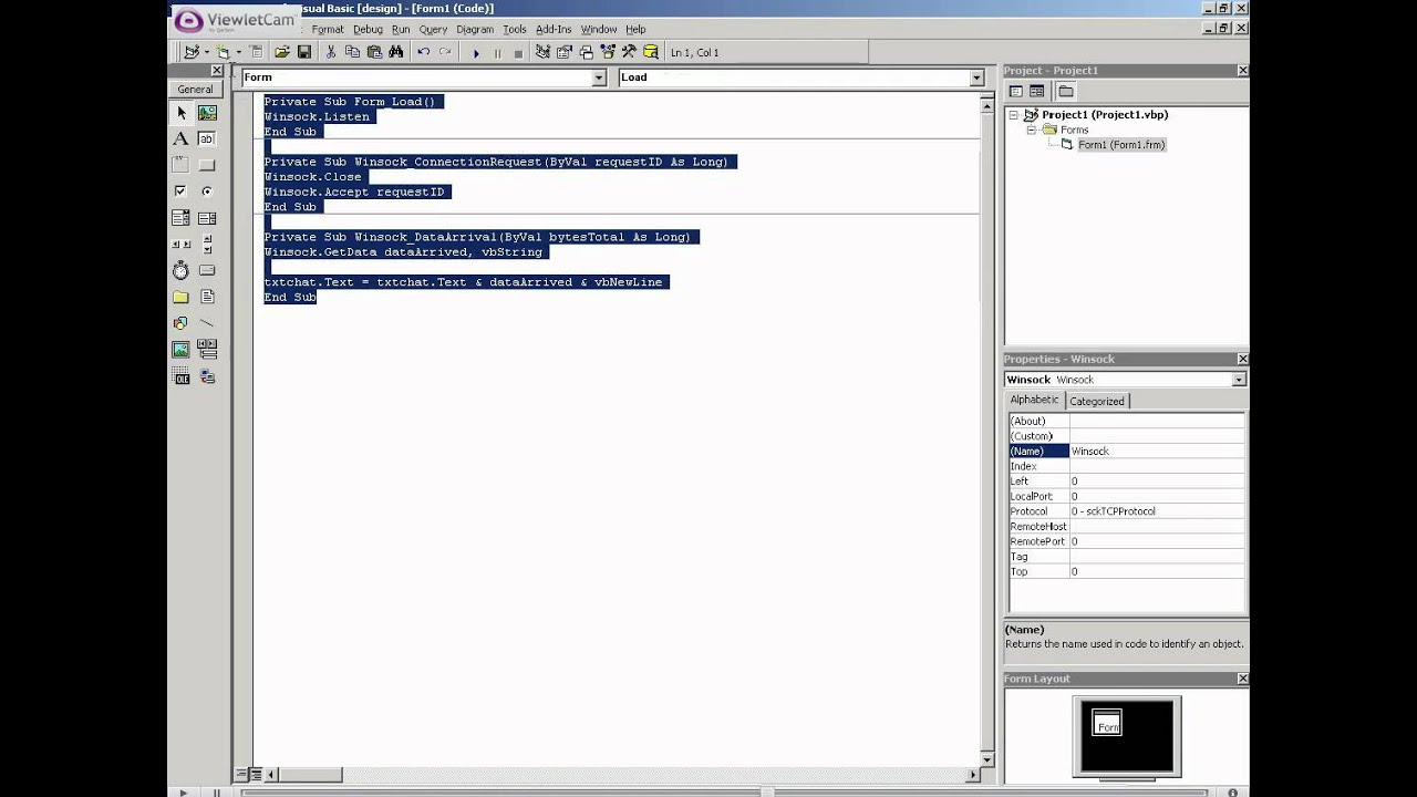 Visual Basic (VB) Tutorial - 10 1 - Client/Server Communication  [TutorialGenius com]