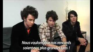Funny interview with Jonas Brothers in Paris