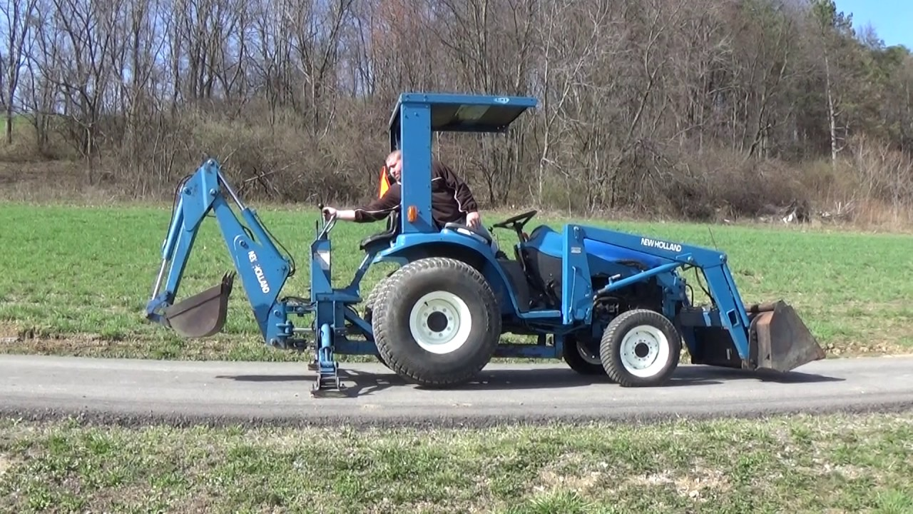 1998 NEW HOLLAND 1925 4X4 TRACTOR WITH LOADER BACKHOE AND CANOPY & 1998 NEW HOLLAND 1925 4X4 TRACTOR WITH LOADER BACKHOE AND CANOPY ...