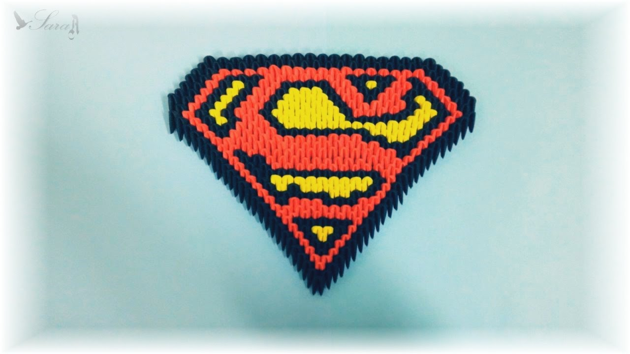 3d origami escudo de superman youtube jeuxipadfo Image collections