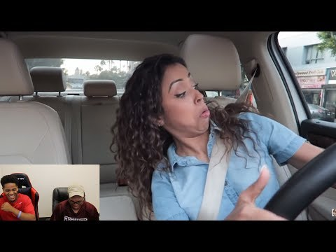 Thumbnail: Liza Koshy | CRAZY DRIVER?! DRIVING WITH LIZZZA PART 2!! | Reaction