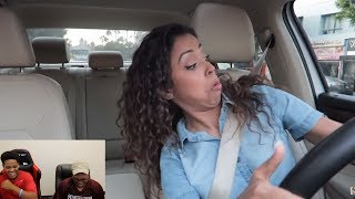 Liza Koshy | CRAZY DRIVER?! DRIVING WITH LIZZZA PART 2!! | Reaction