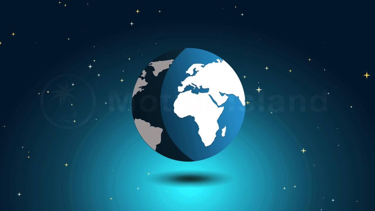2d earth rotation animation