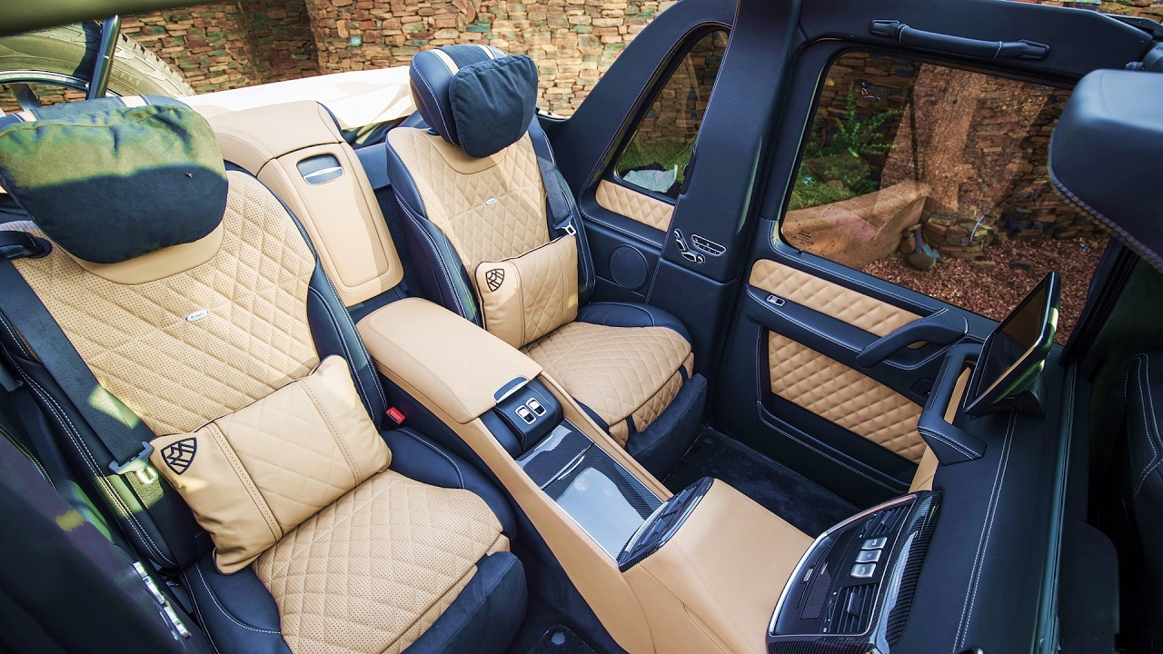 2017 mercedes maybach g650 landaulet interior youtube. Black Bedroom Furniture Sets. Home Design Ideas