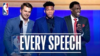 EVERY Speech From The 2019 NBA Awards! | Giannis, Doncic, Siakam and More! Video