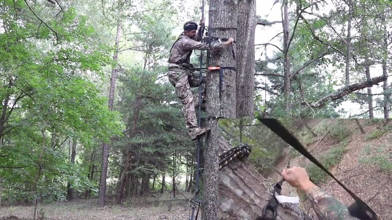 How To Hang A Hang On Style Treestand Safely Part 1