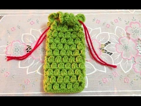 Hướng dẫn móc len căn bản: móc túi đựng điện thoại