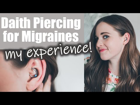 My Migraine Daith Piercing Experience | My FIRST Piercing! + 1 Week Migraine Update