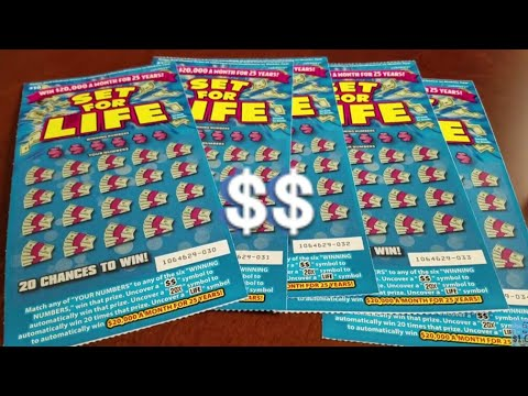 Set For Life Scratchers - Casual Pursuit of the $20k/Month Dream!