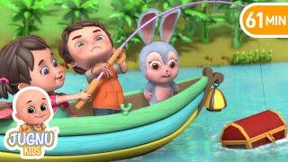 Row, Row, Row Your Boat (Ant Version) + More Nursery Rhymes & Kids Songs - Jugnu Kids