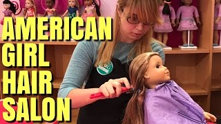 American Girls Go To AG Hair Salon