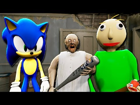 GRANNY Vs BALDI & SONIC THE HEDGEHOG CHALLENGE! (GTA 5 Mods FNAF RedHatter)