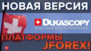 Dukascopy обновил платформу Jforex